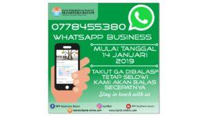 Telah Hadir! WhatsApp Business BPR Sejahtera Batam