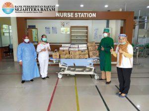 SB Peduli Covid-19 – Penyerahan Makanan dan Minuman ke Tim Medis @RS Embung fatimah (11-06-2020)